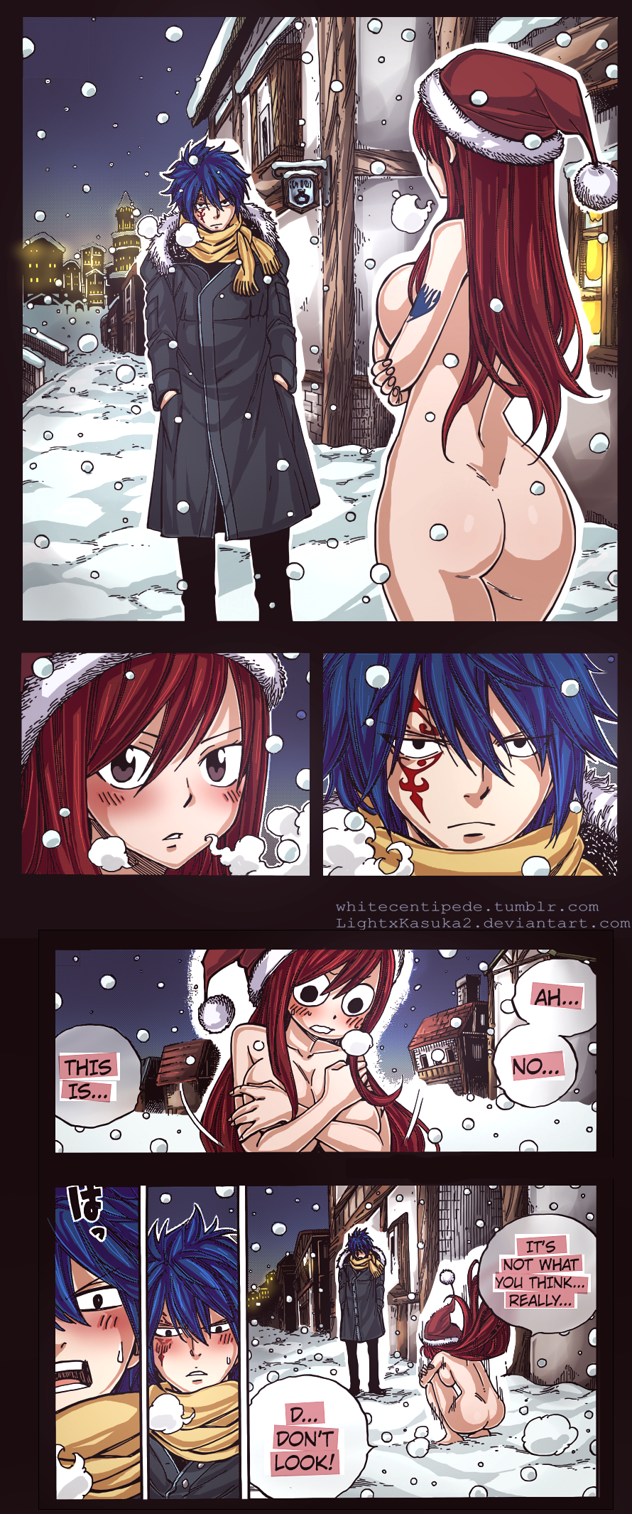 Erza naked tail fairy Fairy Tail