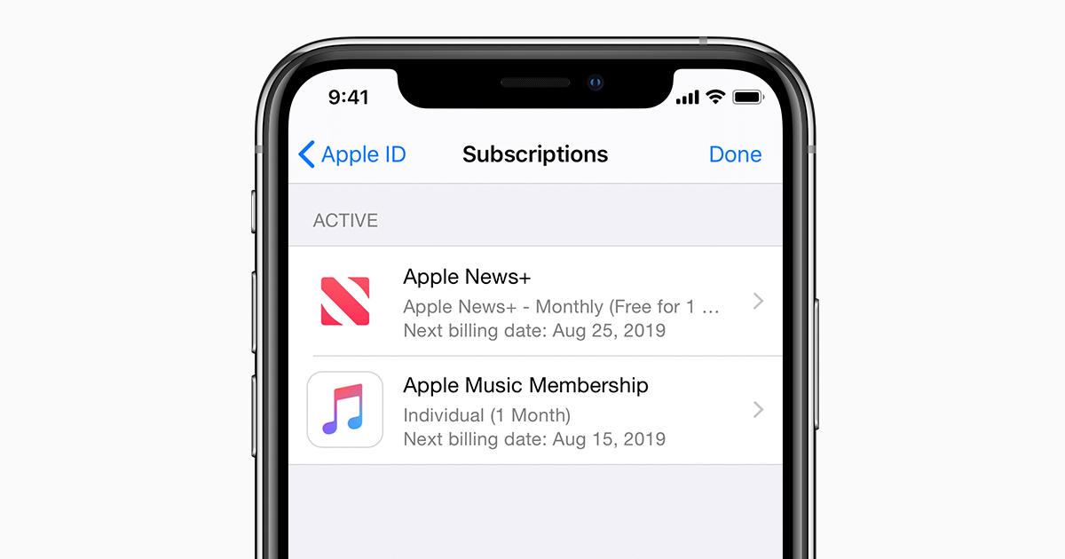 What does apple music subscription include