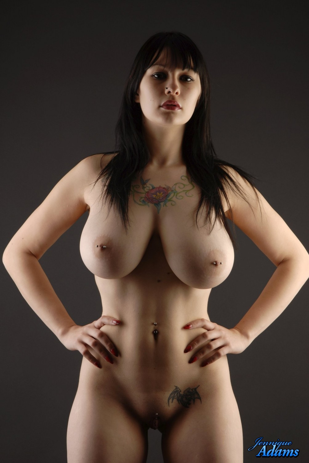 Young full figure naked